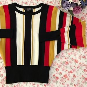 Forever 21 Sweaters - F21 retro stripe balloon sleeve sweater